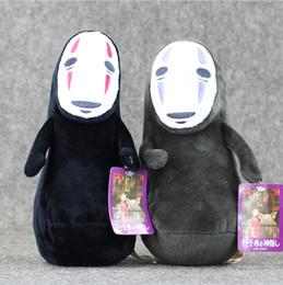 Miyazaki Plush Toys NZ - 22cm Spirited Away No Face Hayao Miyazaki Movie Pendant Plush Soft Doll Toy for kids gift Free Shipping EMS