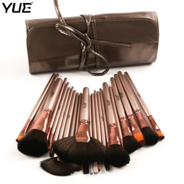 Light kits brands online shopping - Yue Brand Makeup Brushes Set Professional Cosmetic Brush Powder Blush Fan Foundation Eye Shadow with Pu Bag