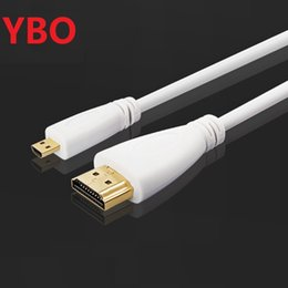 $enCountryForm.capitalKeyWord NZ - 350PCS lot Micro HDMI (Type D) to HDMI (Type A) Cable- 24K Gold Connectors - ideal For Connecting HD Devices using the new--- white