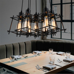 American Loft Vintage Pendant Light Personality Wrought Iron Lights Edison Nordic Lamp Industrial Cage Retro Hanging Lighting Fixtures