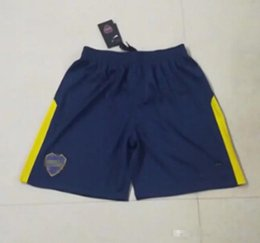 Pantalones Cortos Azules Baratos-2018 Boca Soccer shorts 2017/18 Boca Junior home Shorts de fútbol 17 18 Argentina Club Football Shirts Thai Quality home pantalón corto azul