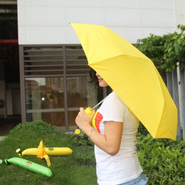 steel for umbrella Canada - Novelty Items Fashion fruit banana umbrellas 3 folding umbrella the sun rain umbrellas for women
