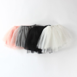 Vêtements Mignons Filles Tout-petits Pas Cher-Soft Baby Girl Pettiskirts Net Veil Jupe Kids Cute Princesse Cadeau Cadeau Anniversaire Toddler Ball Gown Party Kawaii TUTU Jupes
