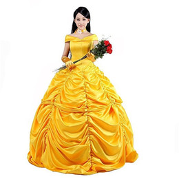 Belle Beauty Beast costume online shopping - Malidaike Anime Beauty and Beast Cosplay Costumes Belle Costume Cosplay Show Dress