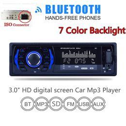 1 DIN 3 дюймов в тире Bluetooth стерео FM-радио MP3 аудио плеер 7 цвет света Aux вход CAU_01R
