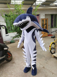 Shark maScot adultS online shopping - high quality Real Pictures Deluxe shark mascot costume anime costumes advertising mascotte Adult Size factory direct