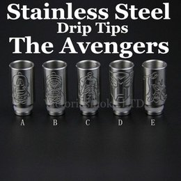 metal bear 2019 - Stainless Steel 510 drip tips for ecig 510 wide bore stainless steel drip tip metal mouthpiece for Electronic Cigarette