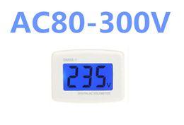 Ac Voltmeter Tester Canada - by dhl fedex 100pcs lot Voltmeter Plug Voltage Meter Electrical Instruments DM55-1 AC 80-300V LCD Digital Electric Pen Testers