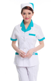 $enCountryForm.capitalKeyWord NZ - Doctor white long-sleeved dress nurse short sleeved uniform experiment under drugstore beauty salon work pants cap 094