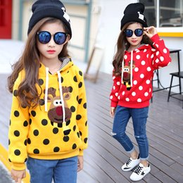 Manteau Chandail Hiver Enfant Fille Pas Cher-2017 Autumn Girl Cartoon Hoodies Manteau New Fashion Enfant fourrure Warm Jacket Winter Kids Pullover Sweater Long Sleeve Outwear
