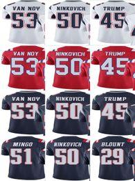 nfl pro line navy player jersey patriot 51 barkevious mingo 53 kyle van noy 50 rob ninkovich men wom