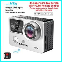 Wifi images online shopping - High Quality EKEN H6S Sport Camera Dual Screen Full Mode EIS Video K WIFI Super Lens Waterproof Action Cameras