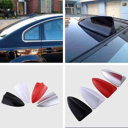 shark fin antenna signal 2019 - Universal Shark Fin Type Antenna Aerial Signal Car Auto SUV Roof Special Radio FM Car-styling