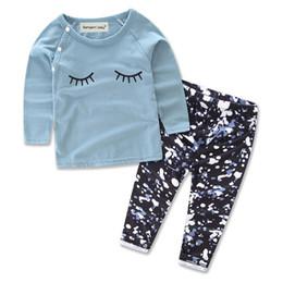 2t boys online shopping - 2Pcs Kids Boys Girls Spring Autumn Cartoon Eyelash Outfit Set Children Kid Long T shirt Pullover Pants Tracksuit Clothes