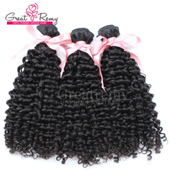 """7a grade peruvian curly hair 2019 - 3pcs lot Hair Extension Peruvian Curly Wave Human Hair 8""""-30"""" Unprocessed Hair Weft Natural Color 7A Grade Gre"""