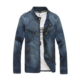 $enCountryForm.capitalKeyWord Canada - 2016 hot sale tops cotton sport jeans jacket for men mens outerwear denim jacket coat cowboy wear