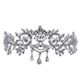$enCountryForm.capitalKeyWord UK - Crystal Bridal Hairbands Women Hair Jewelry Wedding Accessories Rhinestone Tiaras And Crowns Head Chain Crown Headband