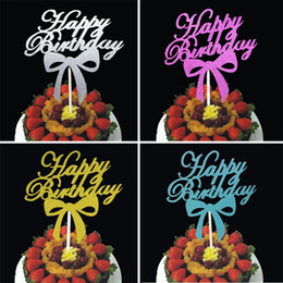 $enCountryForm.capitalKeyWord Australia - cake toppers gliter happy birthday paper cards banner for fruit Cupcake Wrapper Baking Cup tea party wedding decoration baby shower