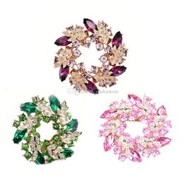 party decoration plates UK - Elegant Ladies Bauhinia Flower Dress Brooch Pin Decoration Jewelry Snowpear C00663 FASH
