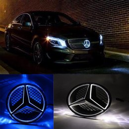 led badges for cars NZ - Car Front Grilled Star Emblem LED Illuminated Logo for 2006-2013 Center Front Badge Lamp Light