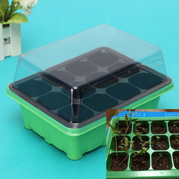 2016new useful durable 12 cells hole plant seeds grow box tray insert case plastic