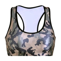 Gilet De Soutiens-gorge Pas Cher-Europe T-shirt de mode Yoga T-shirt Fitness Slim Vest Push Up Stretch Soutien-gorge sport Y-Strap Aerobics Vêtements sans manches Camo Colorful Tank Tops LNSsb