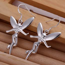 Discount angel gifts - Hot sale women's sterling silver Hanging Angel earring SDSE193,fashion wholesale 925 silver Dangle Chandelier earri