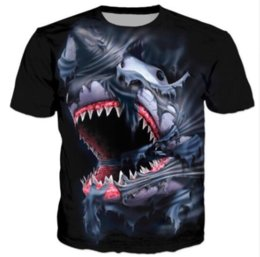 Womans S Clothing Canada - New Fashion Womans Men Short Sleeves Shark Funny 3D Print T-shirt Summer Casual Clothes Top Tees Plus S-5XL K16