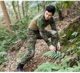 Discount combat suit army - Men Outdoor Frog Suit Army Military Uniform Tactical BDU Navy Combat CS Sets (Shirt+Pants) Multicam hunting sets