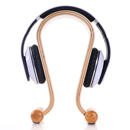 Wholesale 2016 Hot Wooden Omega Headphone Display Stand Stands Headphones Holder Headset Hanger for Brand headset headsets mate Free Ship
