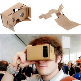 "Virtual Reality Phone Canada - DIY Google Cardboard Virtual Reality VR Mobile Phone 3D Viewing Glasses for 5.0"" Screen Wholesale Cheap phone sip"