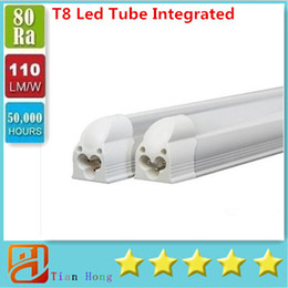 $enCountryForm.capitalKeyWord NZ - Integrated 8 ft LED tube T8 LED Tube 45W 4800LM SMD 2835 Light Lamp 2.4M 1.2M 85-277V Bulb led fluorescent