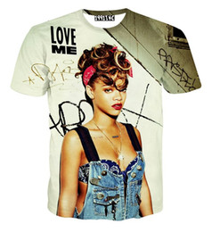Star Fashion Shirt For Men NZ - 2018 fashion Famous Star Rihanna T shirt for men women 3d tshirt short sleeve casual tops t-shirt clothing summer camisetas mujer