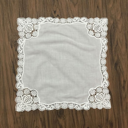 "$enCountryForm.capitalKeyWord Canada - Fashion Ladies Handkerchief 12 PCS Lot 12""x12""White Soft 100%Cotton Hankies Embroidered Crochet Lace Hanky For wedding Bridal Gifts"