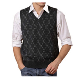 Discount Yellow V Neck Sweater Vest   2018 Yellow V Neck Sweater ...
