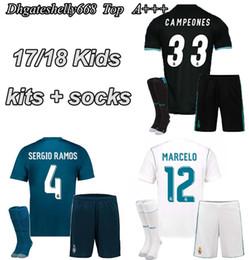 ... soccer Jersey 7 Ronaldo 11 Bale 21 MORATA 8 2017 2018 Real Madrid HOME  AWAY Kids Football kit  428df3bfc