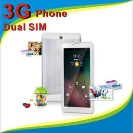 3g Sim Call Canada - 7 inch 3G Phablet Android 4.4 MTK6572 Dual Core 4GB Dual SIM GPS Phone Call WIFI Tablet PC With Bluetooth