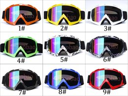 photochromic ski goggles Australia - Moq=1pcs Unisex Fashion Skiing Motorcycle Goggles Outdoors Sports Sunglasses Windproof Cross-Country Antifog Glasses 9 Colors Free Shipping