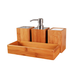 2017 square bathroom accessories sets bamboo bathroom accessory set soap dispenser square cup toothbrush holder usa