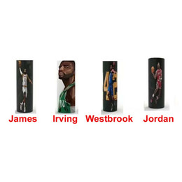 wholesale basketballs Canada - USA basketball player 18650 battery Vaper wrapper protective skin cover stickers James Harden Kobi Ivring Westbrook Curry Durantula