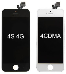 $enCountryForm.capitalKeyWord NZ - For iPhone 4 4S LCD Display Touch Screen Digitizer Full Assembly Replacement Parts Black White DHL Free SNP015