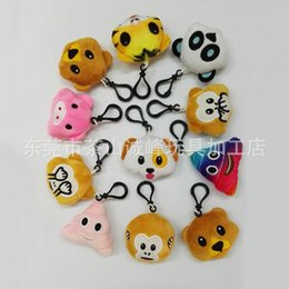 $enCountryForm.capitalKeyWord Canada - 2016 New QQ Emoji Plush Pendant Key Chains Emoji Smiley Small Pendant Emotion QQ Expression Stuffed Plush Doll Toy For Mobile Bag Pendant