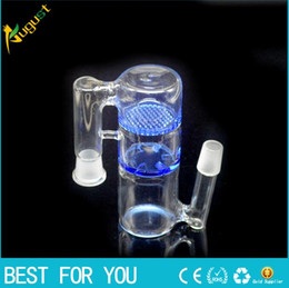 honeycomb ash catcher percolator water pipes Australia - 14mm Honeycomb and whirlpool Glass Ash Catcher Bubbler Glass water Pipe Crystal Clear Percolator Ashcatcher Glass Hookah 2016