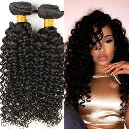 16 inch malaysian hair curly Australia - Brazilian Virgin Hair kinky curly 100% Unprocessed Remy Human Hair Extensions Peruvian Malaysian Indian Cambodian Virgin Hair Weave Weaving