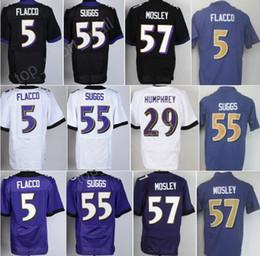 cheap 5 joe flacco jersey men 55 terrell suggs 57 cj mosley 29 marlon humphrey vapor untouchable color rush limited purple black white joe flacco jerseys on