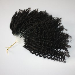 Micro ring loop brazilian hair extensions online shopping - CE certificated kinky Jerry Curly Micro Ring Hair Extensions s Kinky Curly Loop Hair Natural Color Loop Hair