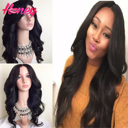 malaysian wavy human hair NZ - Body Wave Wigs 8A Full Lace Human Hair Wigs Wavy Glueless Lace Front Wavy Wigs Malaysian Virgin Hair Wigs With Bleached Knots