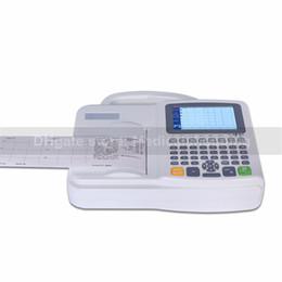 бесплатная доставка 6-канальная цифровая ЭКГ-машина 6-канальная ЭКГ машинаполная клавиатура EKG-машина 5.0 цветное ПО Электрокардиограф
