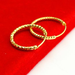 24k Gold Plated Men Ring NZ - For a long time does not fade gold plated ear ring buckle small ear Mantianxing gold imitation 24K Earrings Gift Accessories for men and wom