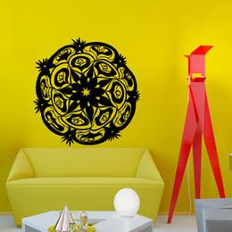 Pattern Decor Canada - Religion Wall Decals Vinyl Self Adhesive Indian Mandala Pattern Yoga Home Decor Art Wall Sticker Bedroom